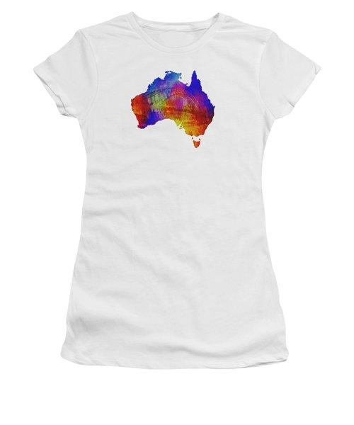 Australia And Sydney Harbour Bridge By Kaye Menner Women's T-Shirt