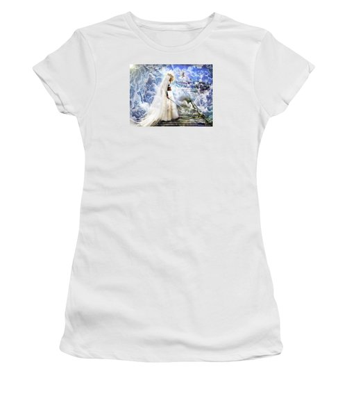 Authority Over Darkness Women's T-Shirt (Junior Cut) by Dolores Develde