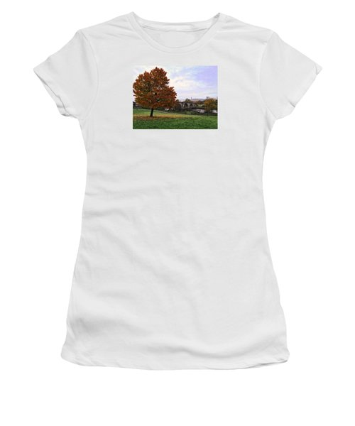 Autumn At Stirling Bridge Women's T-Shirt (Junior Cut) by RKAB Works