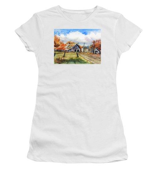 Autumn At The Farm Women's T-Shirt (Junior Cut)