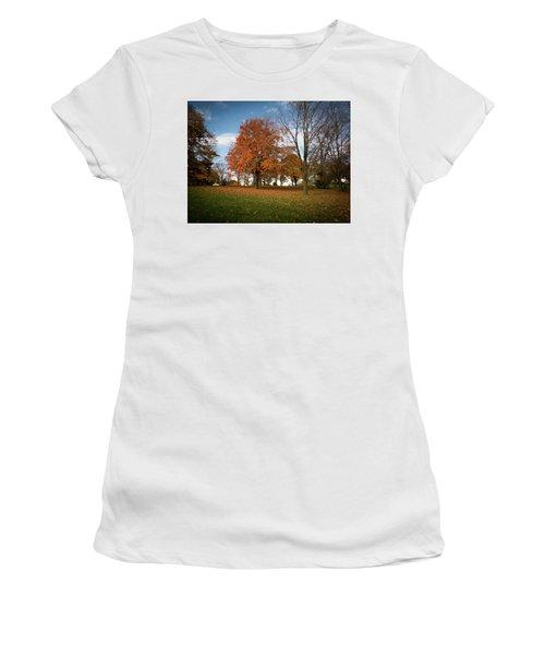 Autumn Bliss Women's T-Shirt (Junior Cut) by Kimberly Mackowski