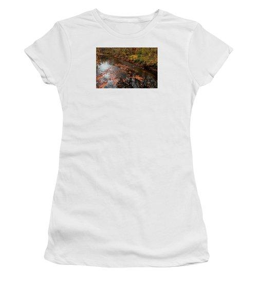 Autumn Carpet 003 Women's T-Shirt (Junior Cut) by Dorin Adrian Berbier