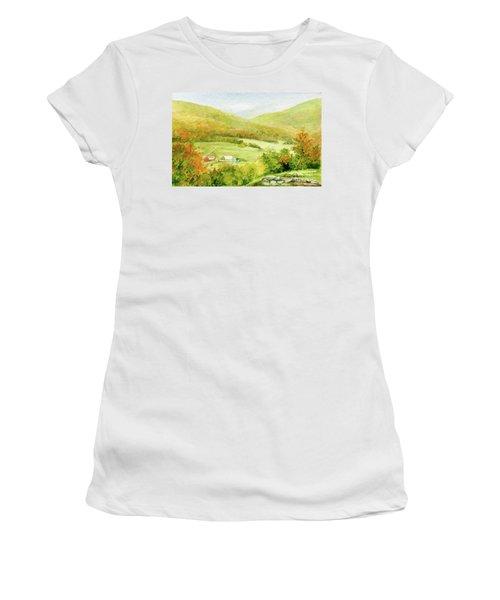 Autumn Farm In Vermont Women's T-Shirt