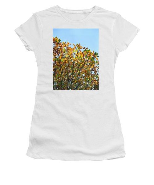 Autumn Flames - Original Women's T-Shirt (Junior Cut) by Rebecca Harman