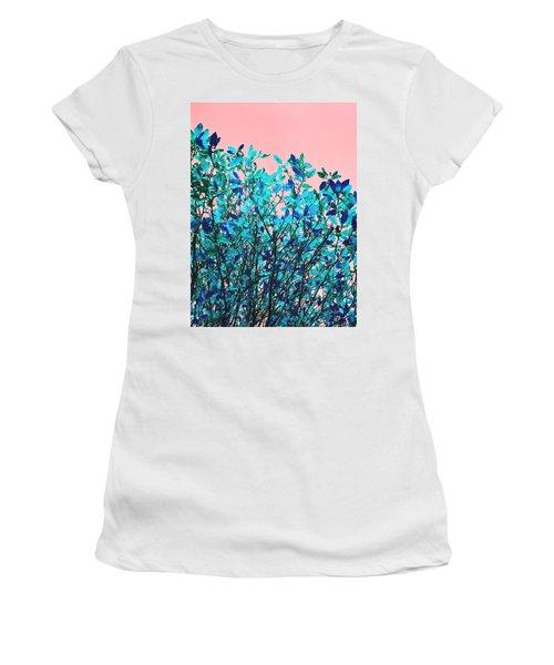 Autumn Flames - Peach Women's T-Shirt (Junior Cut) by Rebecca Harman