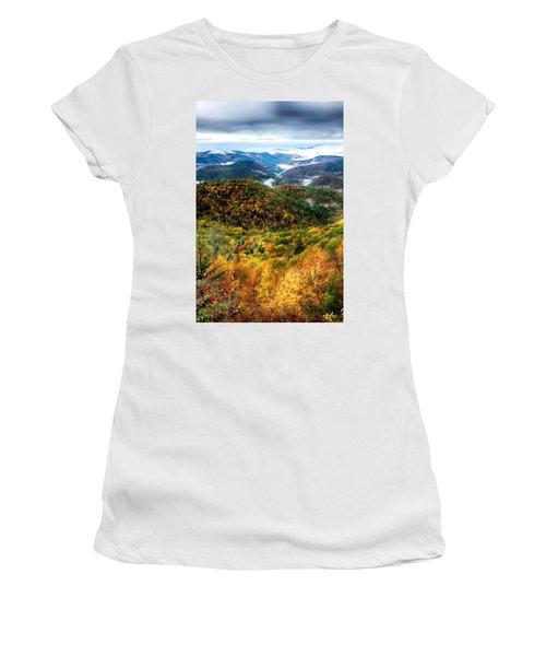 Autumn Foliage On Blue Ridge Parkway Near Maggie Valley North Ca Women's T-Shirt