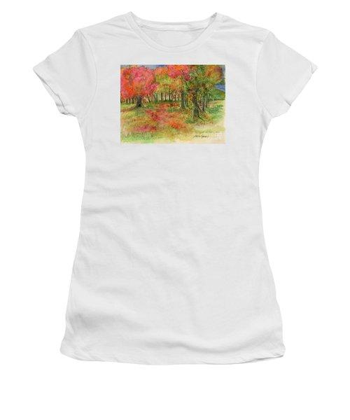 Autumn Forest Watercolor Illustration Women's T-Shirt