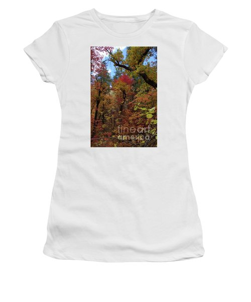 Women's T-Shirt (Athletic Fit) featuring the photograph Autumn In Sedona by Frank Stallone