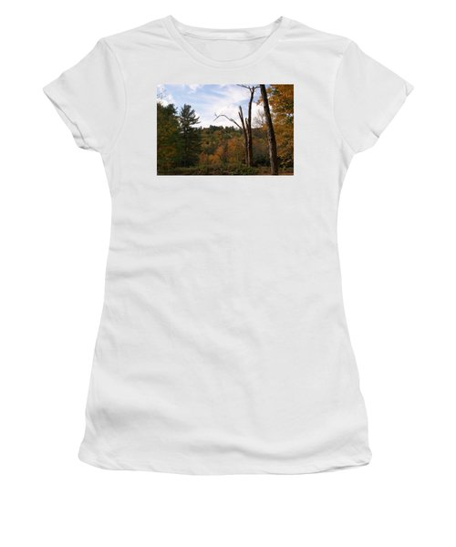 Autumn In The Hills Women's T-Shirt (Junior Cut) by Lois Lepisto