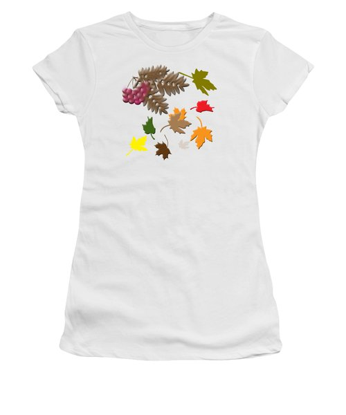 Women's T-Shirt featuring the digital art Autumn by Judy Hall-Folde