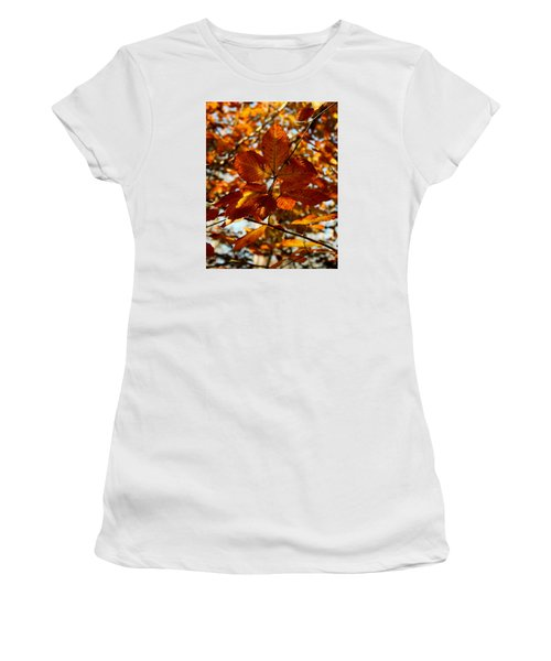 Women's T-Shirt (Junior Cut) featuring the photograph Autumn Leaves by Karen Harrison
