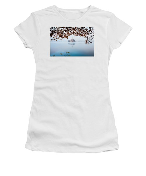 Autumn Mist Over Lake Bled Women's T-Shirt (Athletic Fit)