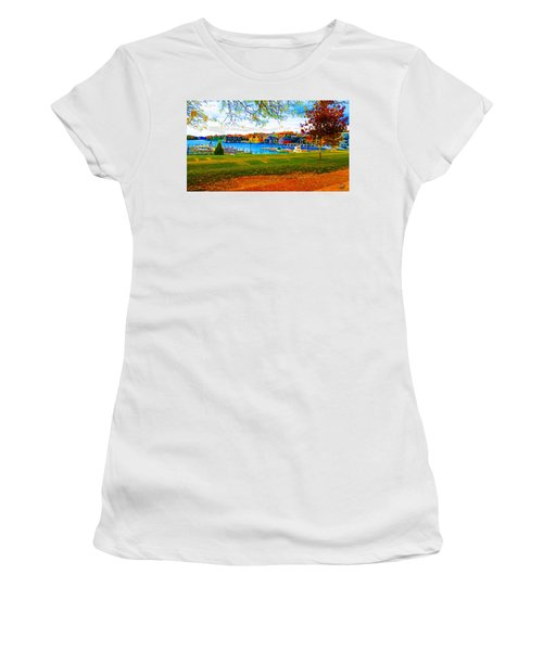 Autumn On Lake Charlevoix Women's T-Shirt (Athletic Fit)