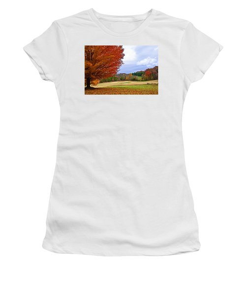 Autumn On The Golf Course Women's T-Shirt (Athletic Fit)