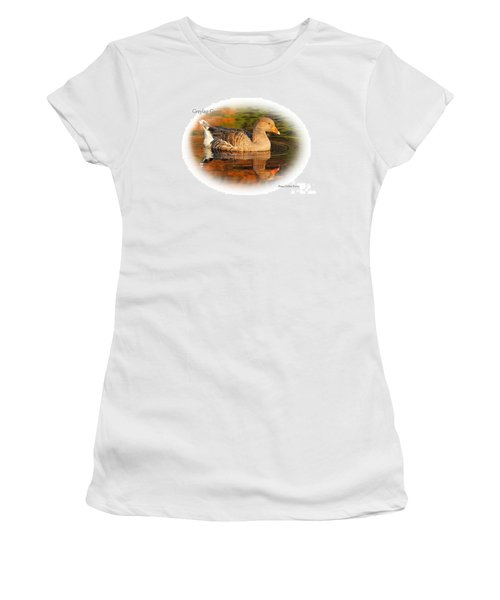 Women's T-Shirt (Junior Cut) featuring the photograph Autumn Reflection by Debbie Stahre