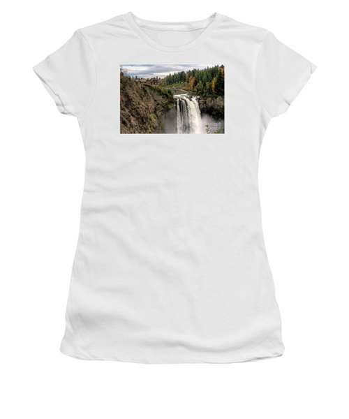 Autumnal Falls Women's T-Shirt (Junior Cut) by Chris Anderson