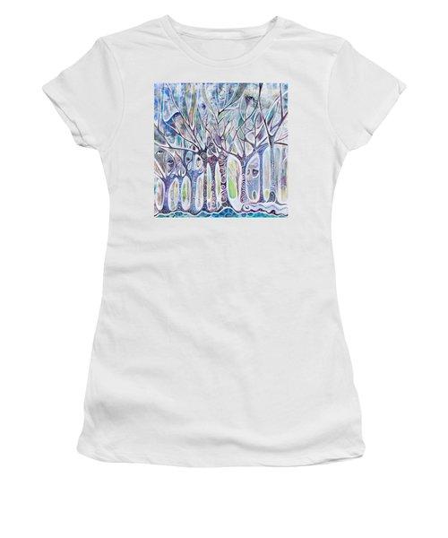 Awareness Women's T-Shirt (Junior Cut) by Leela Payne