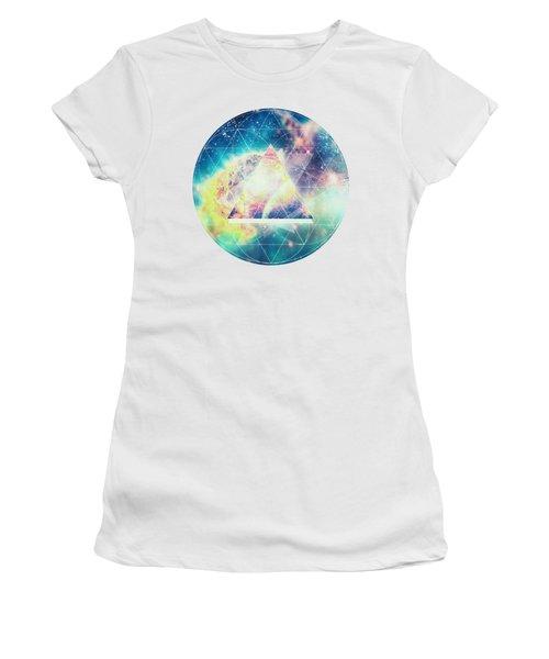 Awsome Collosal Deep Space Triangle Art Sign Women's T-Shirt