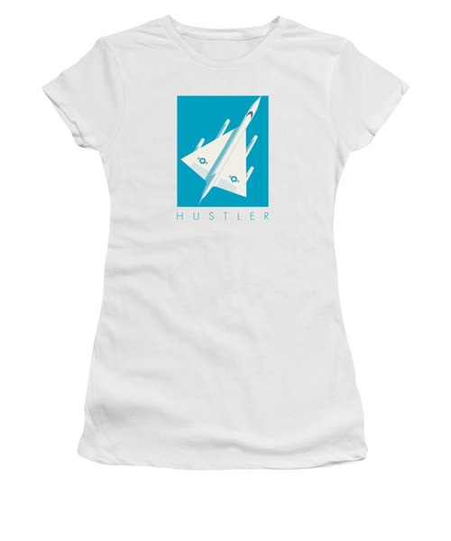 B-58 Hustler Supersonic Jet Bomber - Blue Women's T-Shirt (Athletic Fit)
