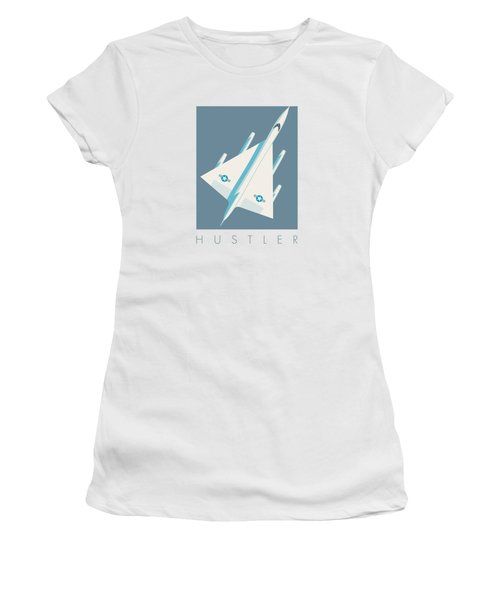 B-58 Hustler Supersonic Jet Bomber - Slate Women's T-Shirt (Athletic Fit)