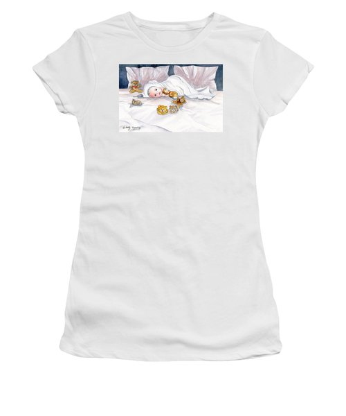 Baby And Friends Women's T-Shirt (Junior Cut) by Melly Terpening