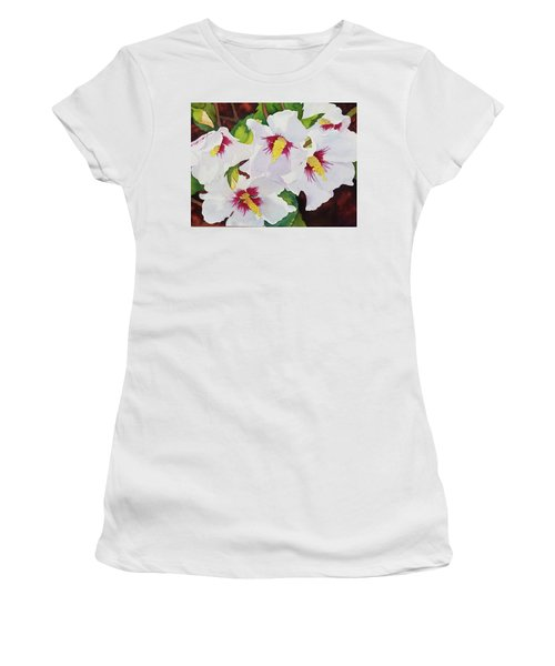 Backyard Blooms Women's T-Shirt (Athletic Fit)
