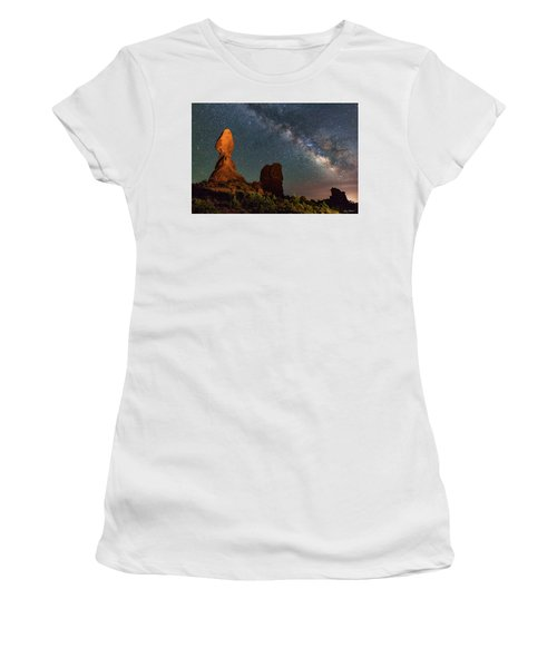 Balanced Rock And Milky Way Women's T-Shirt
