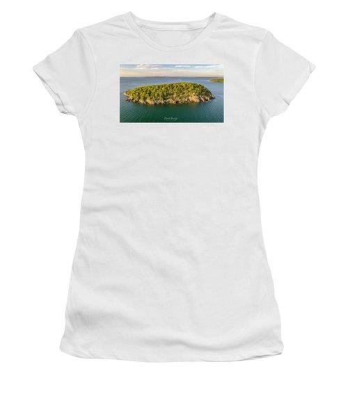 Bald Pocupine Island, Bar Harbor Women's T-Shirt