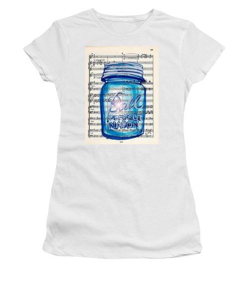 Ball Mason Jar Classical #168 Women's T-Shirt (Junior Cut) by Ecinja