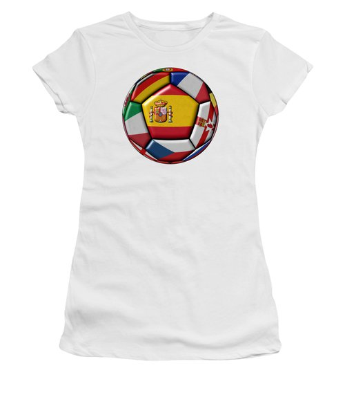 Ball With Flag Of Spain In The Center Women's T-Shirt