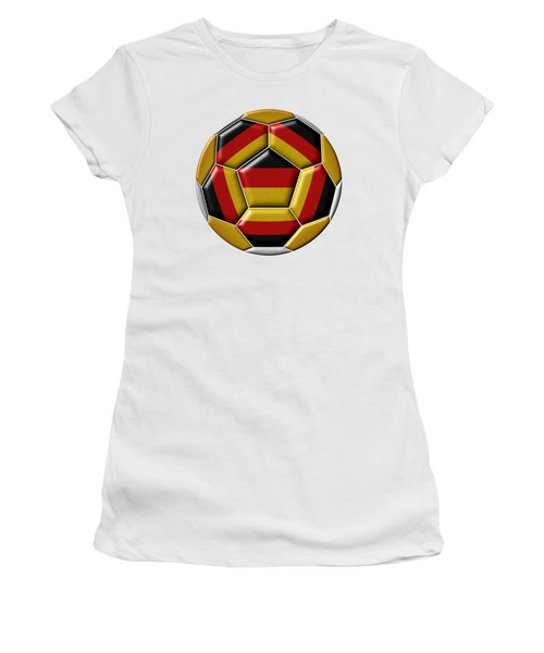Ball With Germany Flag Women's T-Shirt