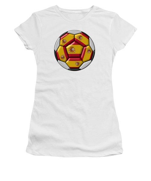 Ball With Spanish Flag Women's T-Shirt