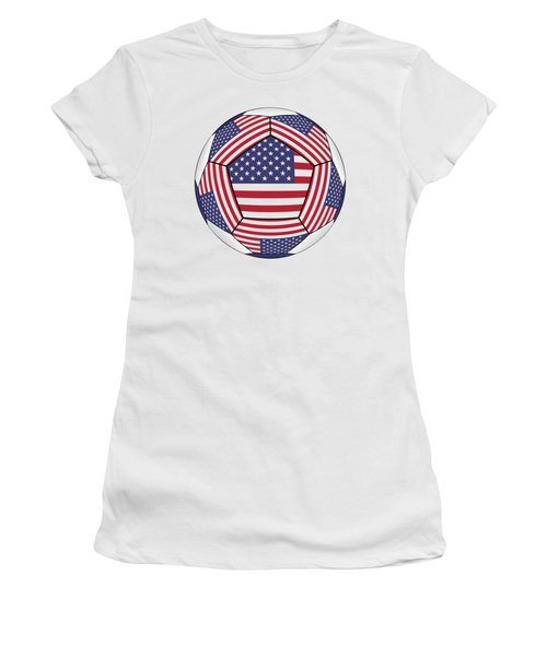 Ball With United States Flag Women's T-Shirt