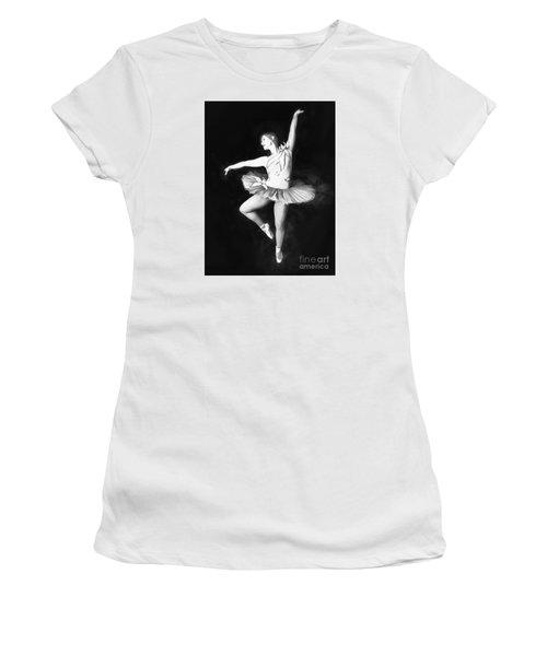 Women's T-Shirt (Junior Cut) featuring the photograph Ballerina  No. 2   ... by Chuck Caramella