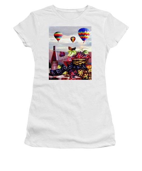 Balloon Ride At Dawn Women's T-Shirt (Athletic Fit)