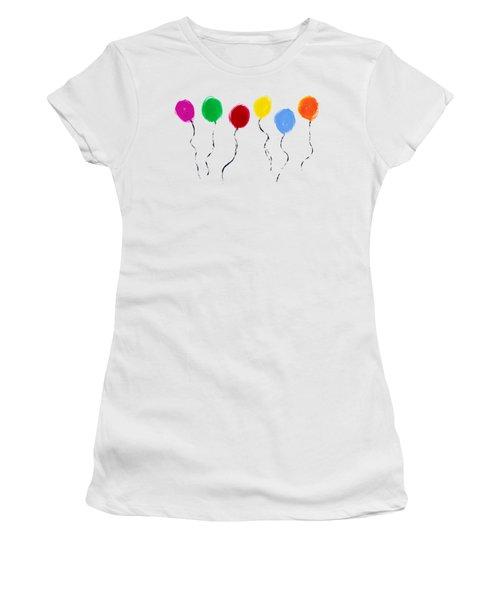 Balloons  Women's T-Shirt (Junior Cut) by Tim Gainey