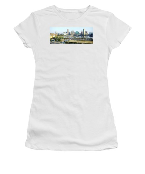 Women's T-Shirt (Junior Cut) featuring the photograph Baltimore's Inner Harbor by Brian Wallace