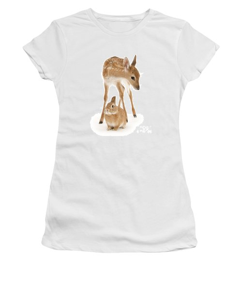 Bambi And Thumper Women's T-Shirt (Athletic Fit)
