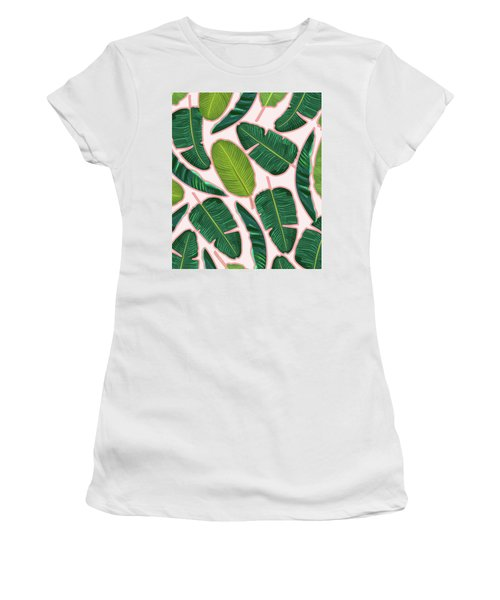 Banana Leaf Blush Women's T-Shirt (Athletic Fit)