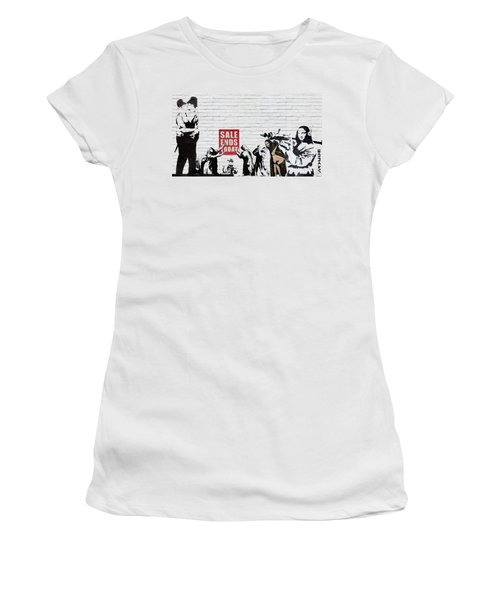 Banksy - Saints And Sinners   Women's T-Shirt