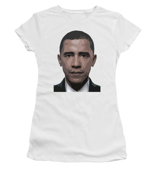 Barack Obama Women's T-Shirt (Junior Cut) by Tshepo Ralehoko