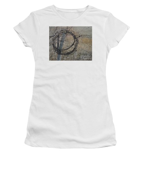 Barbed Wire Women's T-Shirt (Athletic Fit)