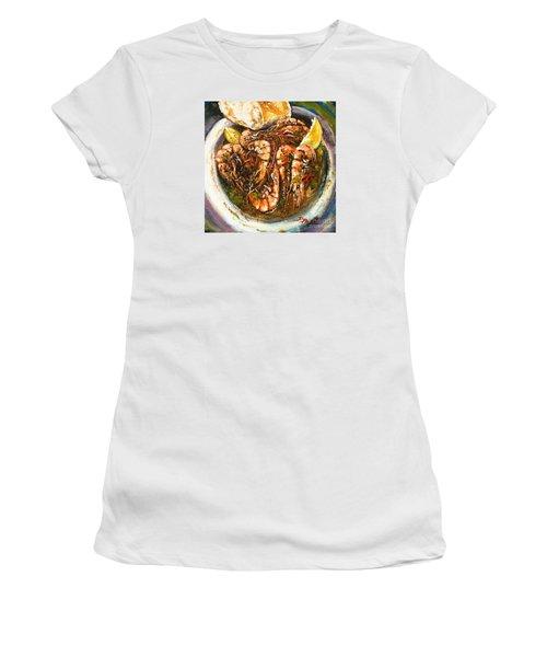 Barbequed Shrimp Women's T-Shirt (Junior Cut) by Dianne Parks