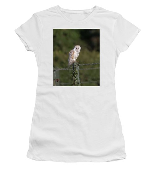 Barn Owl On Ivy Post Women's T-Shirt