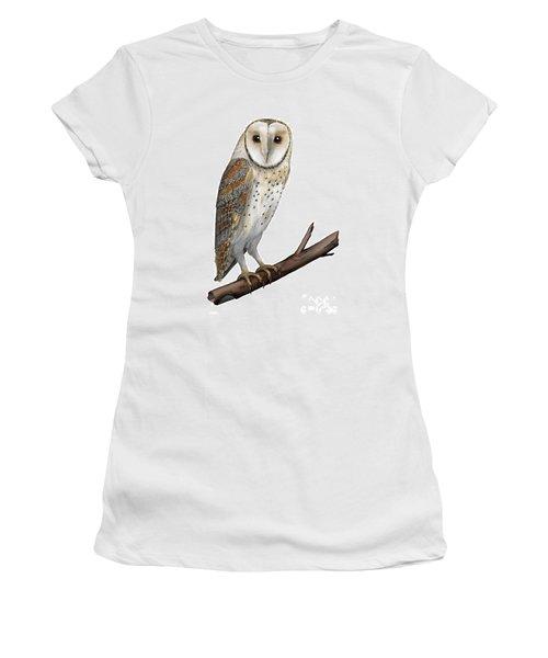 Barn Owl Screech Owl Tyto Alba - Effraie Des Clochers- Lechuza Comun- Tornuggla - Nationalpark Eifel Women's T-Shirt (Athletic Fit)