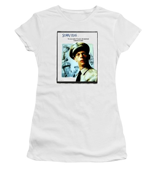 Barney Poster Women's T-Shirt (Athletic Fit)