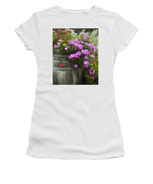Barrel Of Flowers Women's T-Shirt