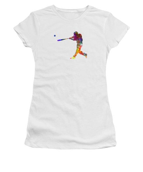 Baseball Player Hitting A Ball 02 Women's T-Shirt
