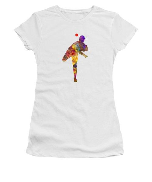 Baseball Player Throwing A Ball Women's T-Shirt