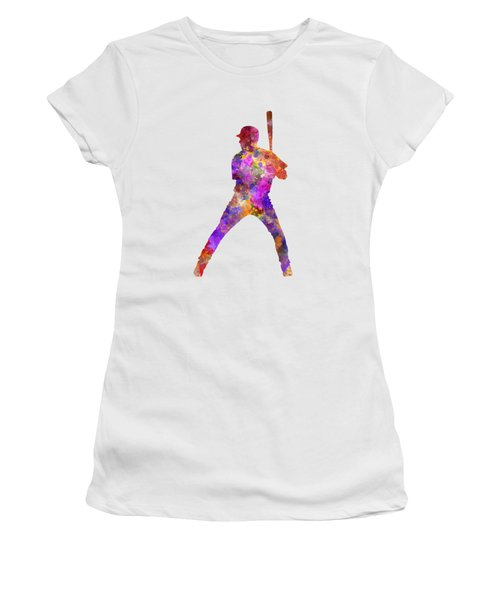 Baseball Player Waiting For A Ball Women's T-Shirt (Junior Cut) by Pablo Romero